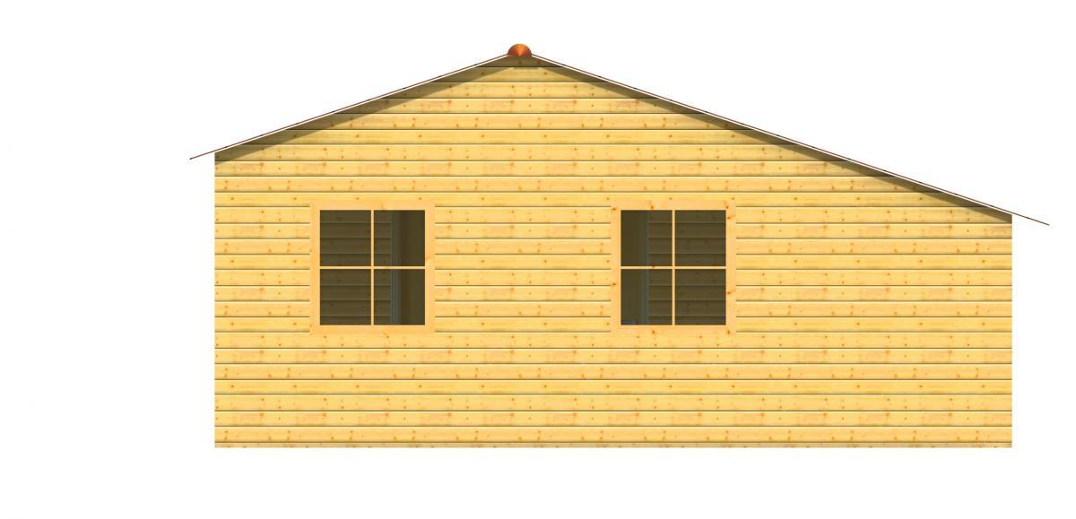 Maison bois en kit pascal chalet en bois 38m for Maison bois en u