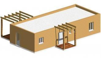 Maison bois en kit maison en bois delta for Maison bois en kit tarif