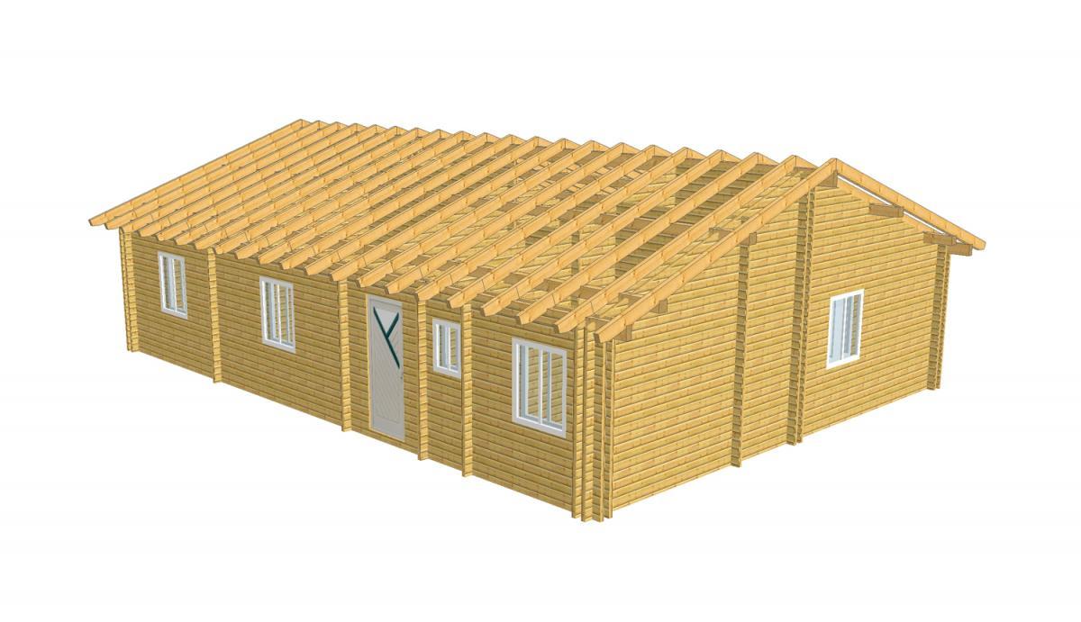 Maison bois en kit maison bois en kit plus de 100 m2 for Kit maison en bois
