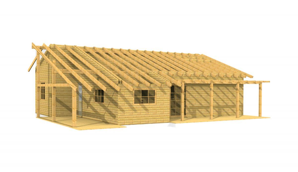 Maison en bois en kit tarif for Tarif maison bois