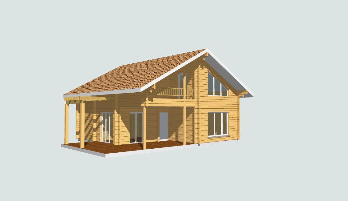 Maison bois en kit maison bois 112m for Maison en bois en kit